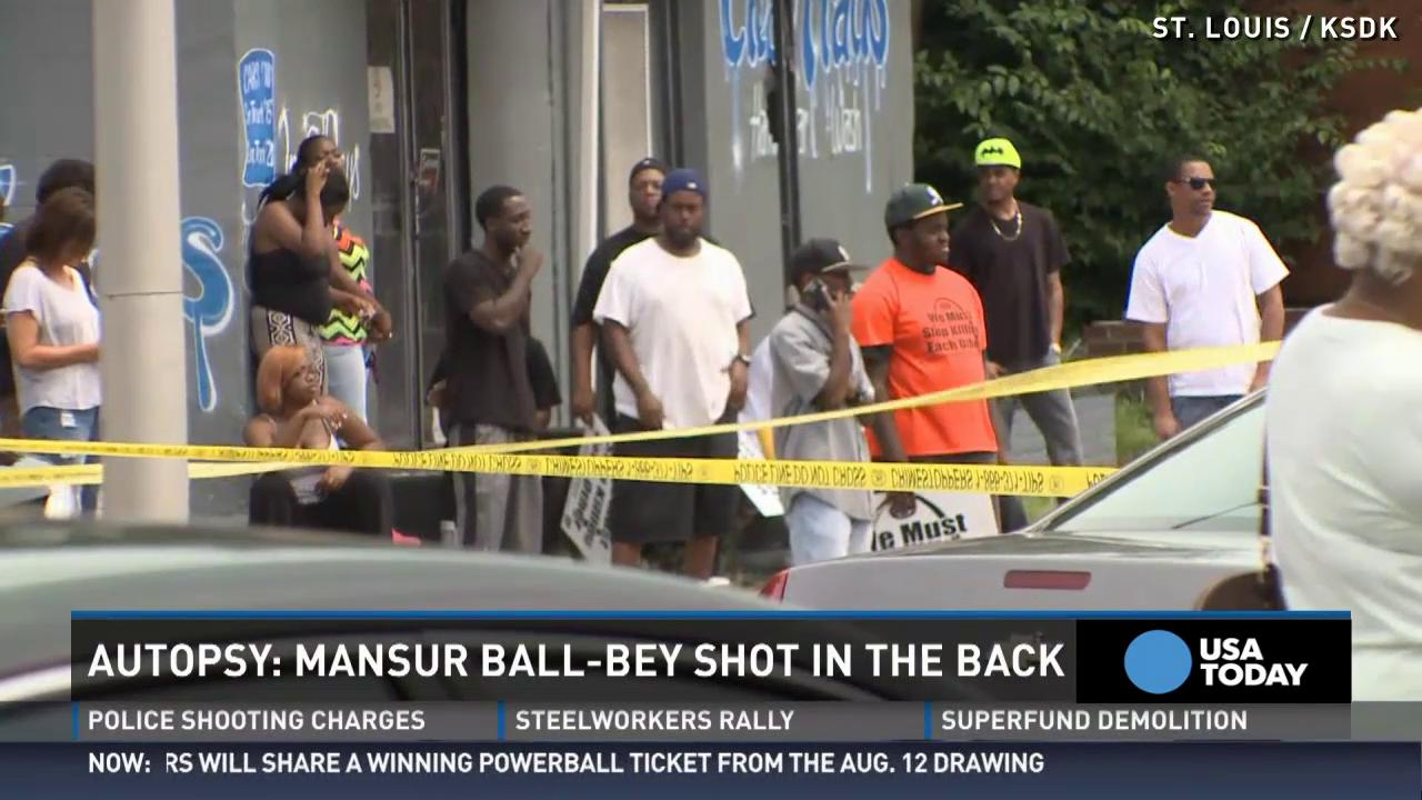 St. Louis man killed by police was shot in the back