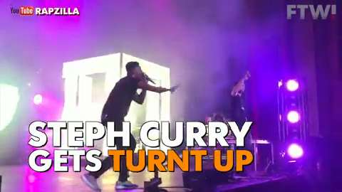 Steph Curry gets turnt up