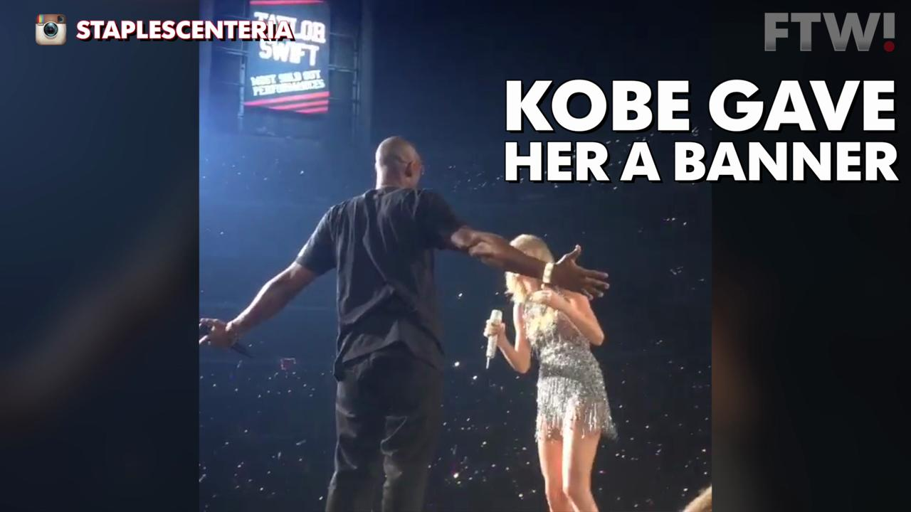 Kobe surprises Taylor Swift