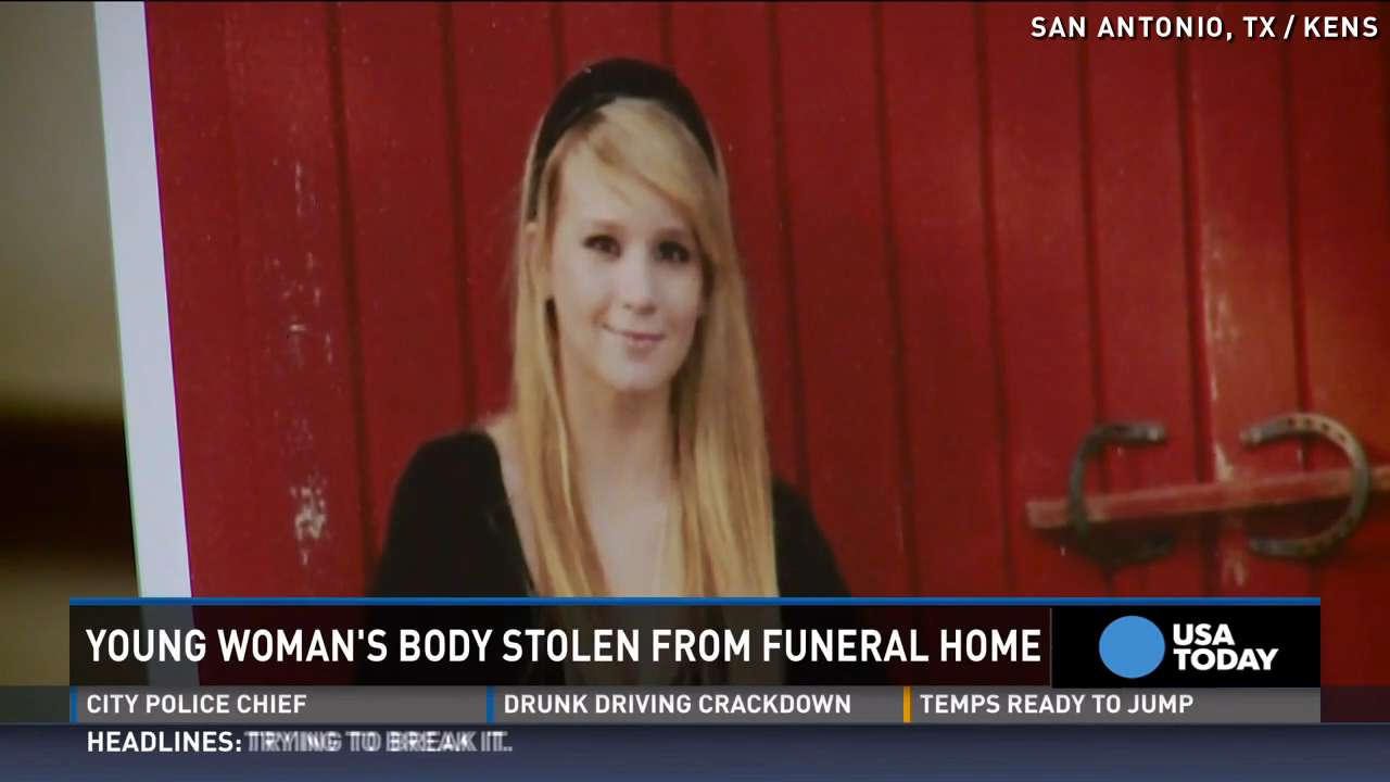 Young woman's body stolen from casket after funeral