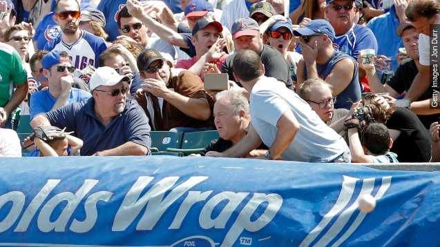 Another baseball fan injured by a foul ball