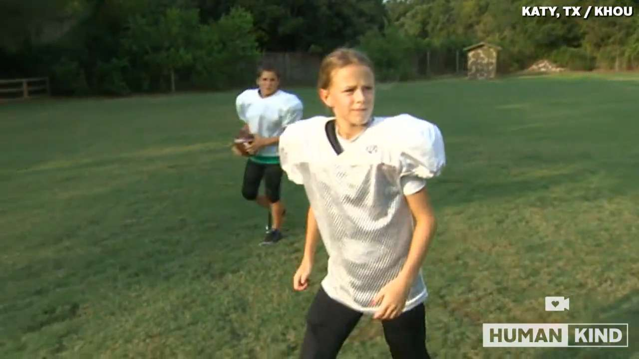 Tough girl proves tackle football isn't just for boys