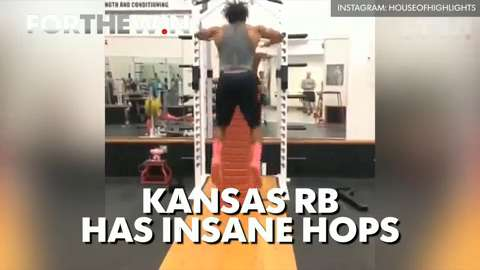Kansas RB has insane hops