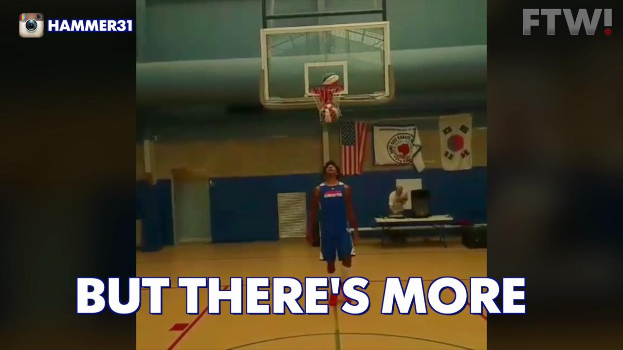 Watch this one-finger three-pointer