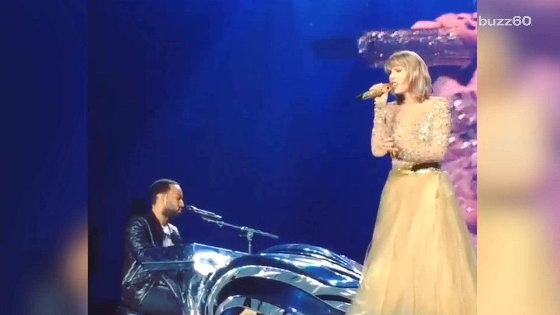Taylor Swift brings John Legend on stage for 'All of Me' duet