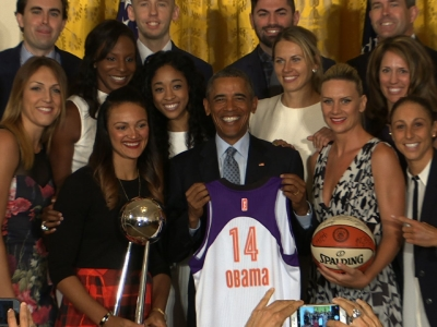 President Obama Honors 2014 WNBA Champions