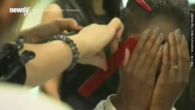 'ANTM' contestant's close shave brings her to tears