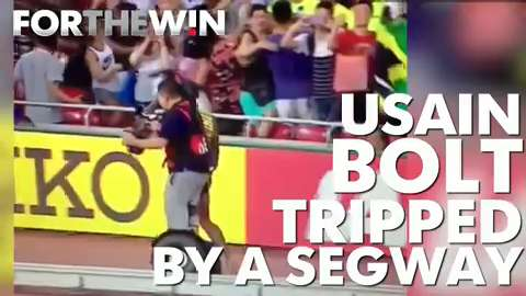 Usain Bolt was run over by a Segway