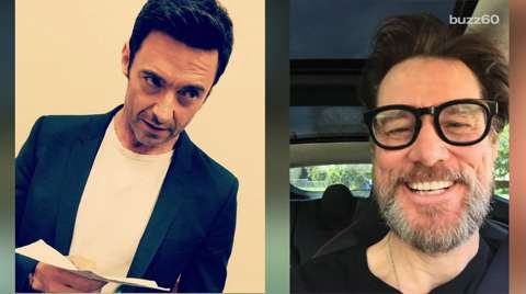 Jim Carrey and Hugh Jackman impersonate each other