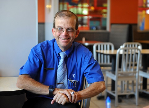 Man honored for working 30 years at same McDonald's