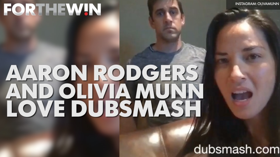 Aaron Rodgers and Olivia Munn love Dubsmash