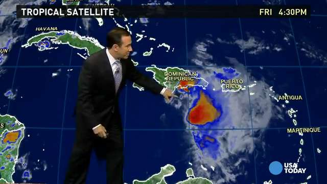 Saturday's forecast: Erika could weaken over Cuba