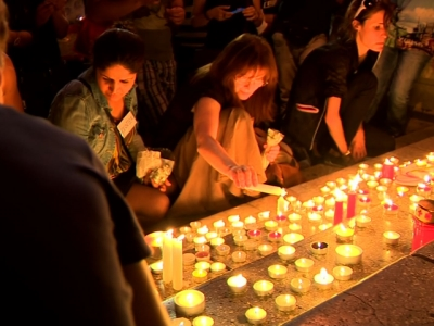Raw: Vigil for 71 Refugees Found Dead in Truck