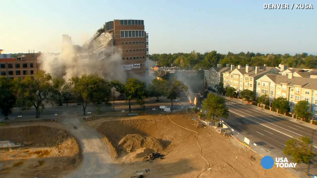 170 detonations take down Denver building