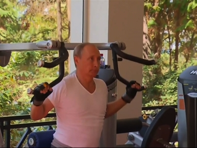 Putin's Weekend: Praises Martial Arts, Works Out