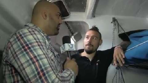 Dan Hardy sets sail around the world