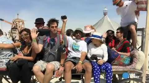 Dusty Burning Man is underway