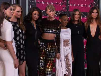 VMA red carpet heats up with Swift and pals