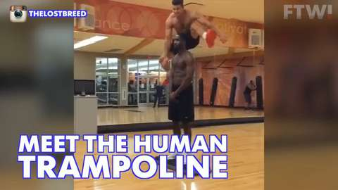 Meet the human trampoline