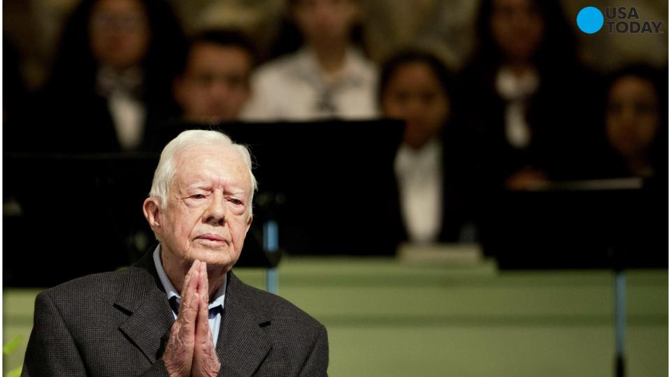 Crowds flock to Georgia to pay tribute to cancer-stricken Jimmy Carter