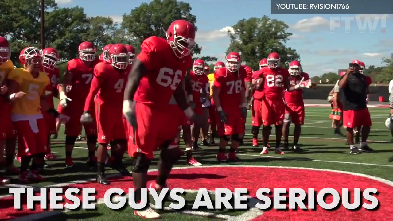 Watch this incredible college football dance-off