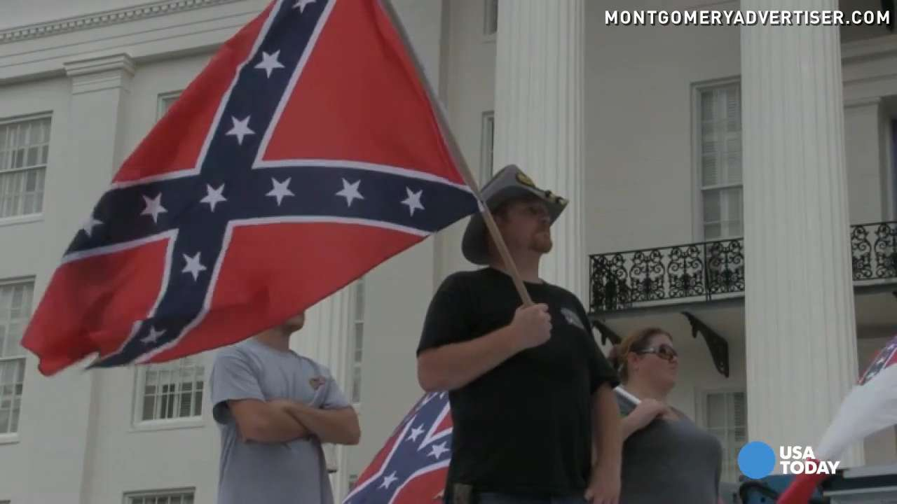 Alabama Confederate flag supporters rally for secession