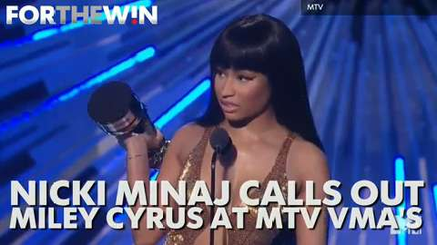 Nicki Minaj calls out Miley Cyrus at MTV VMAs