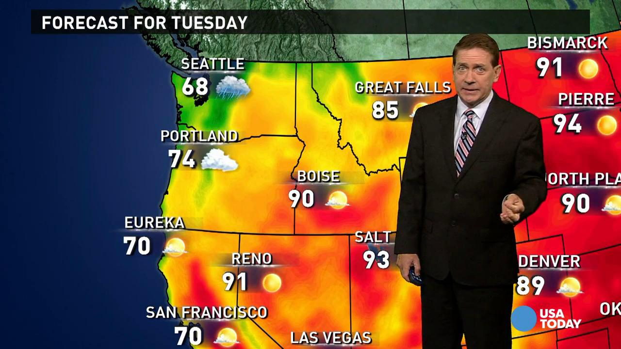 Tuesday's forecast: More rain in Southeast