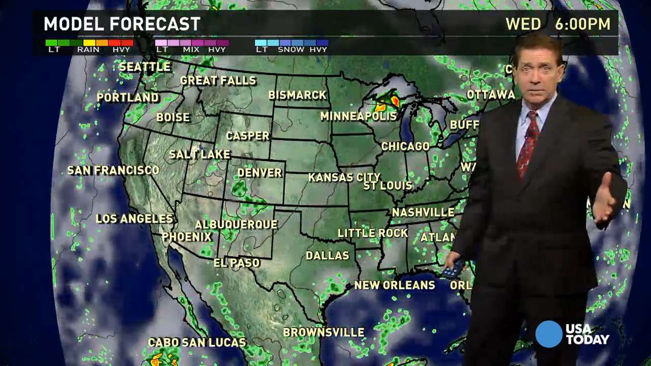 Wednesday's forecast: Summer hangs on in the East