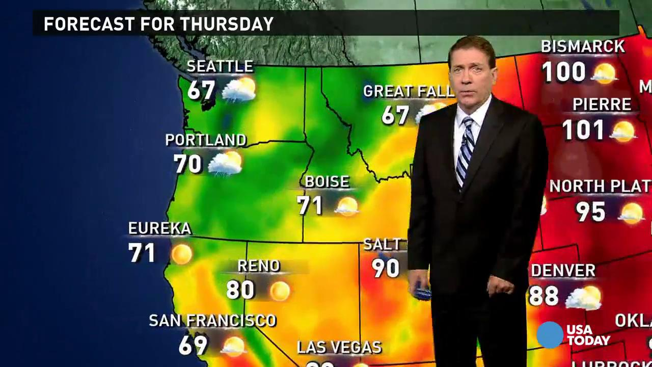 Thursday's forecast: Remnants of Erika brings showers