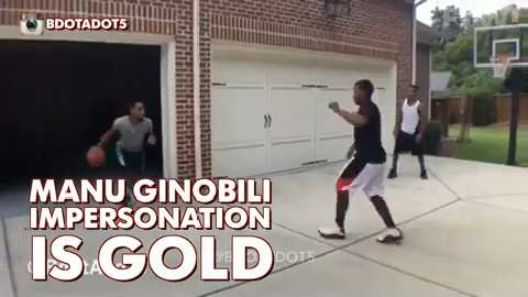 Manu Ginobili gives impersonator his approval