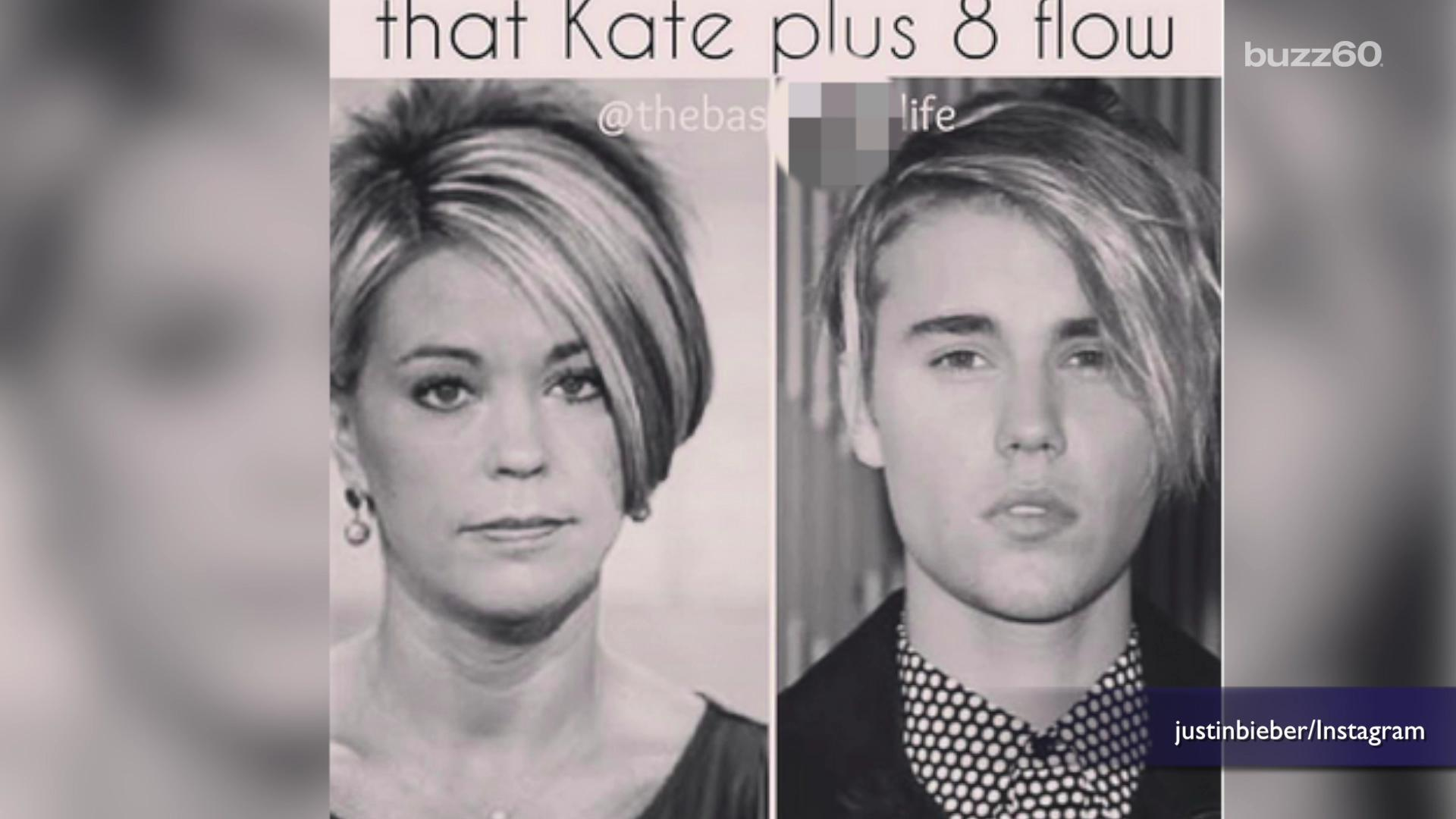 Kate Gosselin on Justin Bieber copying her hairstyle: 'He can have it!'