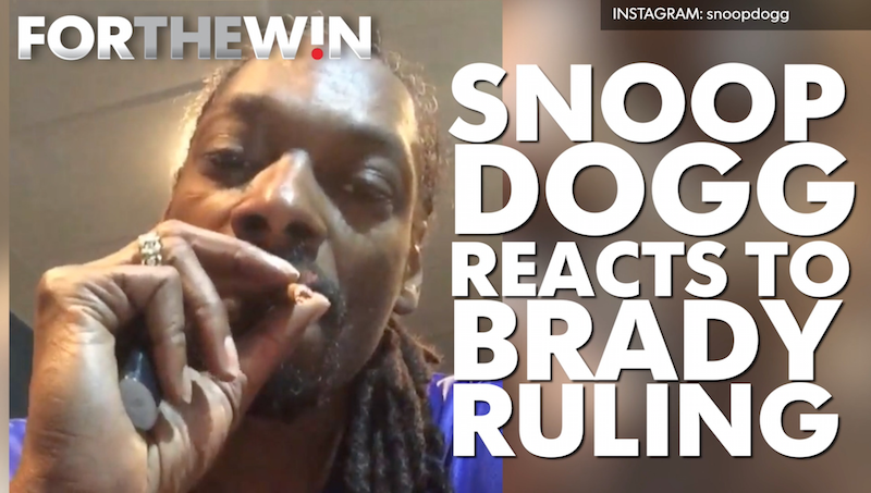 Snoop Dogg reacts to Brady suspension ruling