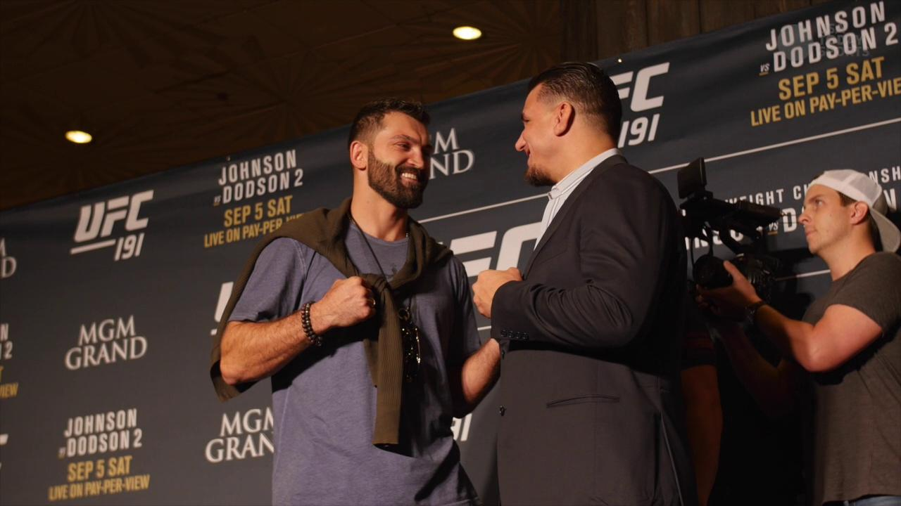 """UFC 191: Johnson vs. Dodson 2"" media day face-offs"