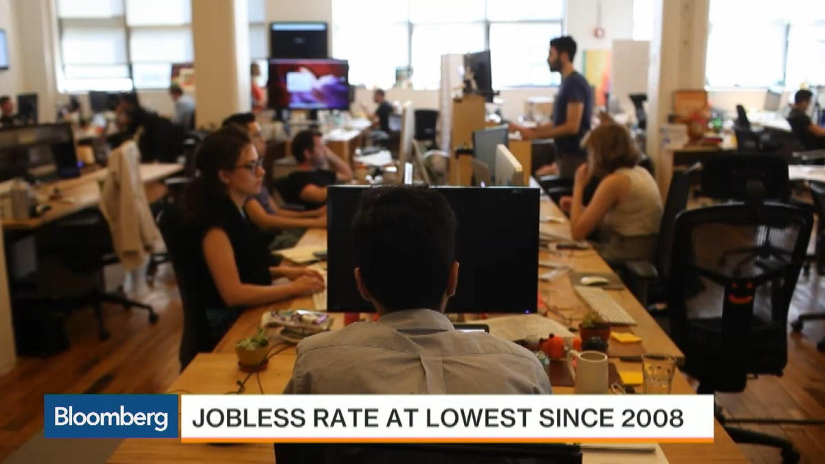 U.S. jobless rate falls to 5.1%, lowest since 2008