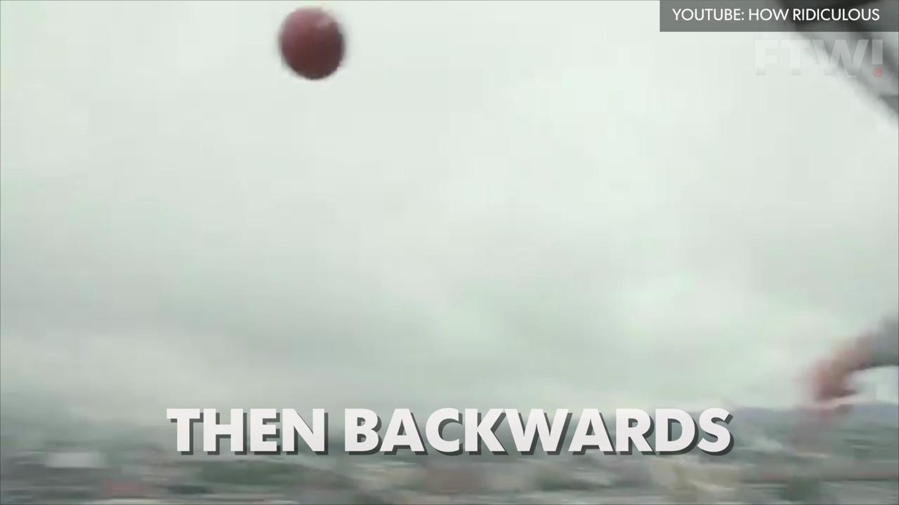 World highest backwards shot