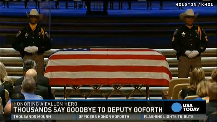 Houston deputy honored by thousands at funeral