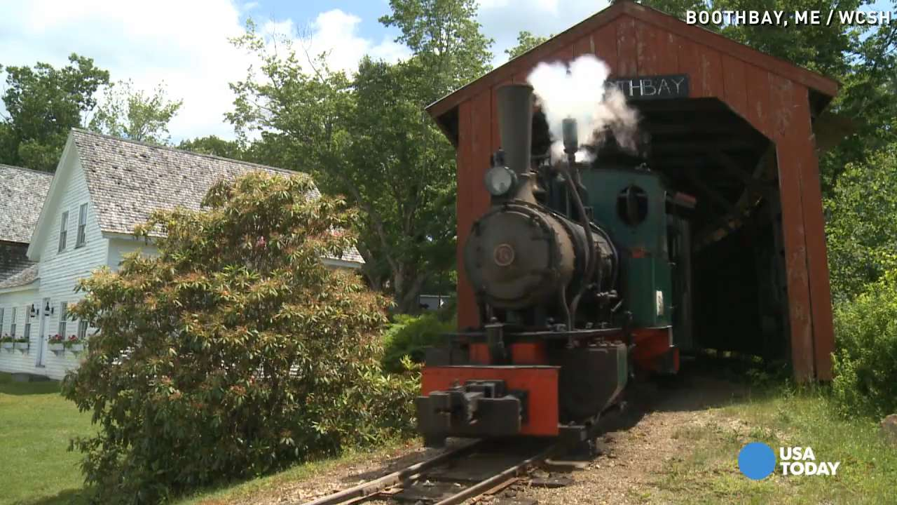 George McEvoy has always loved trains, but he never imagined he'd be able to build an entire village with his hobby. Fifty years ago, he opened up Boothbay Railway Village in Maine to share that love with the world.