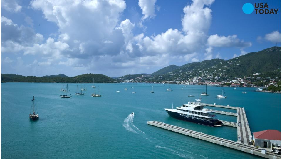 A Carnival cruise ship carrying more than 3,000 passengers is stuck in St. Thomas after an engine fire. No one was injured by a Monday morning blaze on the 10-year-old Carnival Liberty, which was extinguished by the vessel's automated system.