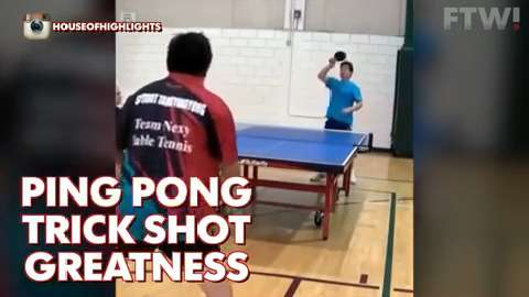 Ping Pong trick shot greatness