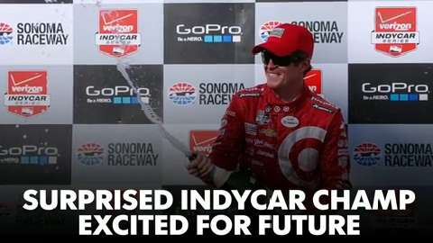 Suprised IndyCar champ excited for future