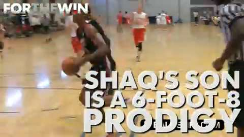 Shaq's son is a 6-foot-8 prodigy