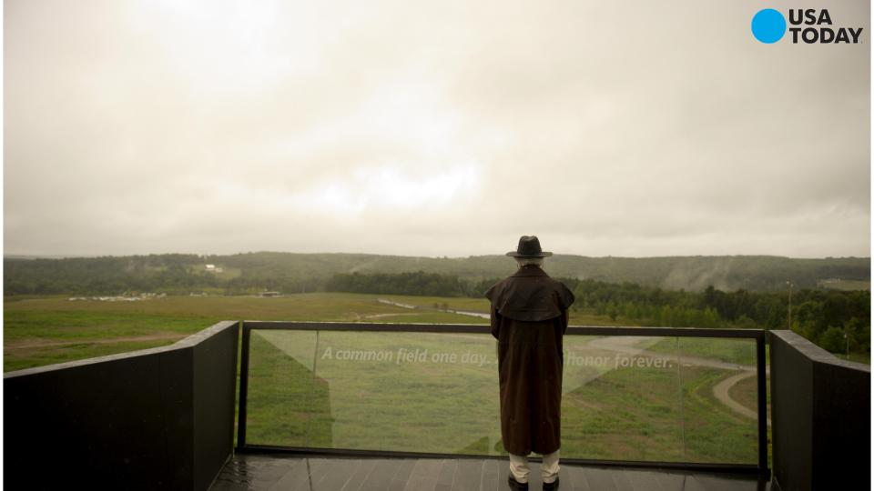 Flight 93 Memorial Museum opens with rain and emotion