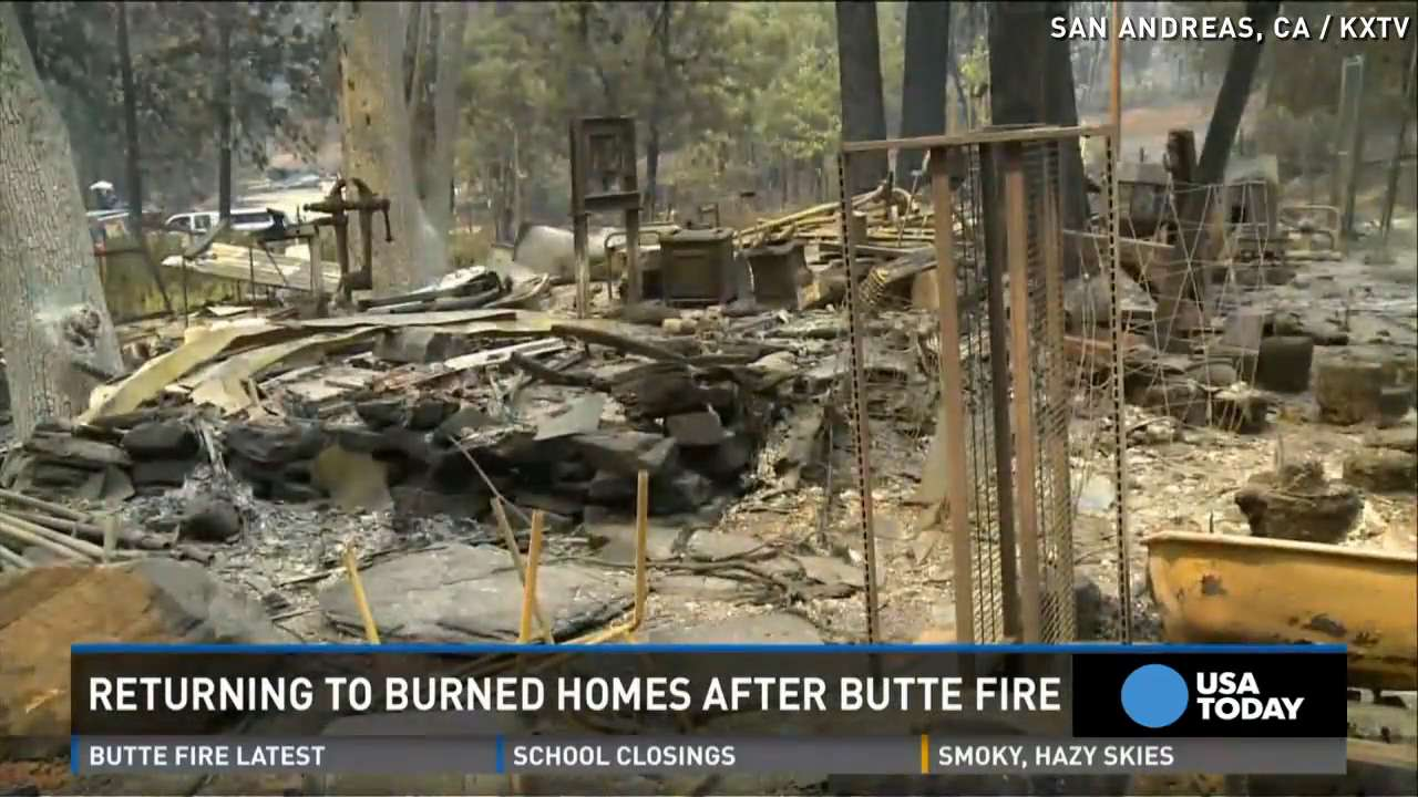 Homes completely leveled by California wildfire
