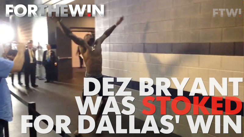Dez Bryant is stoked for the Cowboys' win