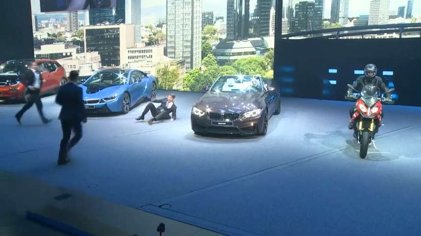 BMW chief collapses at Frankfurt Auto Show