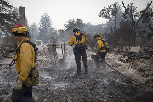 Cooler temperatures descend upon Valley Fire