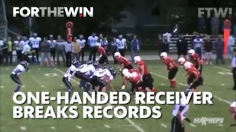 One-handed receiver breaks records