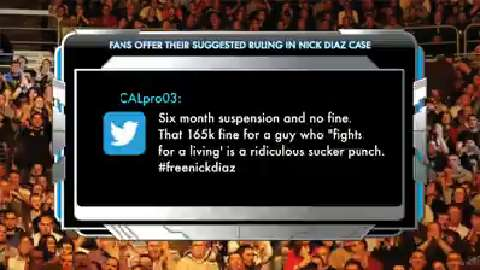 Fan Perspective: what penalty would you have handed down to Nick Diaz?