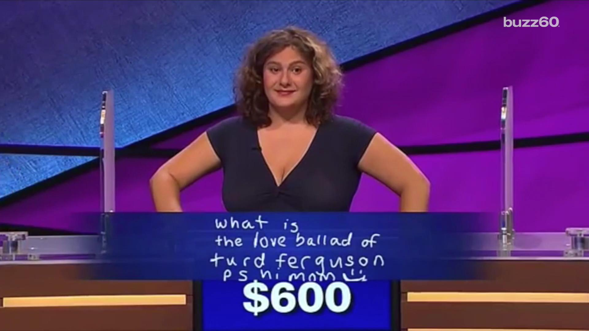 A 'Jeopardy' contestant pulled off an epic joke on host Alex Trebek on Wednesday.